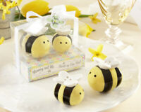Sweet As Can Bee Honeybee Salt & Pepper Ceramic Salt & Pepper Shaker NEW