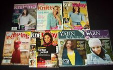 BULK LOT x 7 KNITTING MAGAZINES - Yarn Forward, Knit Today, Creative Knitting