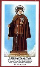 SANTINO - HOLY CARD- IMAGE PIEUSE - Heiligenbild SUOR MARIA FRANCESCA