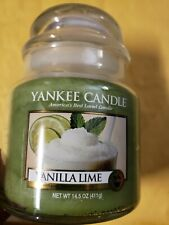 Yankee Candle VANILLA LIME Medium 14.5 oz. Free shipping