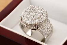 Simulated Diamond .925 Silver Mens Iced Out Pinky Ring Size 7 Rick Ross Tyga Icy