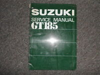 1973 Suzuki GT185 Service Repair Shop Manual FACTORY OEM BOOK 73 DEALERSHIP