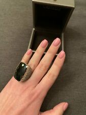 Large Giante 52.30 Carat Onyx Gemstone 925 Silver & Shiny 2.65CT CZ Wedding Ring