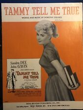 SANDRA DEE 1961 Sheet Music Tammy Tell Me True