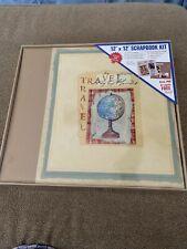 MARKINGS SCRAP BOOK SCRAPBOOK KIT 12X12 ALBUM & KIT OVER 300 PIECES TRAVEL (CC)