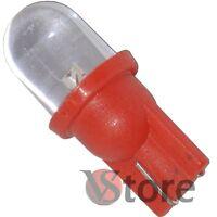 2 LED T10 ROSSO Lampade Luci Lampadine Per Targa e Posizione W5