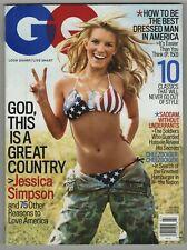 New listing Gq July 2005 Jessica Simpsons Sexy Flag Bikini Cover Saddam Hussein Hamburger Vf