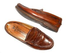 Men's 11.5 Mephisto Shoes Penny Loafers Spinnaker Brown Leather Goodyear Sole