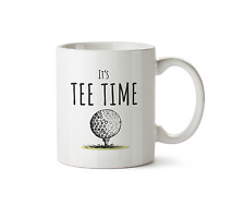It's Tee Time Ceramic Mug Golf Club Coffee Fathers Day Cup Sport Tea 10oz Gift