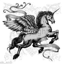 Unicorn Pegasus Horse HEAT PRESS TRANSFER for T Shirt Bag Sweatshirt Fabric 243j