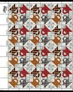 1¢ WONDER'S ~ MNH FULL SHEET (SC #1745-48) W/ 13¢ QUILTS (40 STAMPS) ~ S647