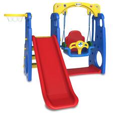 4 in 1 SWING & Slide  Set Indoor & Outdoor Toys Lifespankdis DEMO RUBY