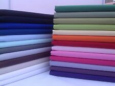 PLAIN 100% Cotton Fabric, solid colour METRE & 1/2m FQ'S sheeting linnings