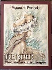 "Vintage Musee de Francaise Renoir Exhibition Poster ""The Man Inside His Images"""