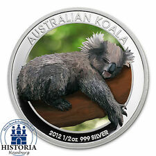 Australian Koala $ 0,5 - 2012 bu 1/2 oz Silver Coloured Coin