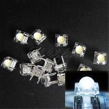 50PCS 5mm F5 Piranha LED White Round Head Super Bright Light Emitting Diode
