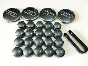 Audi Nabendeckel Radkappe Felgendeckel Felgenkappen Set 4M0601173D 8W0601170 JG3