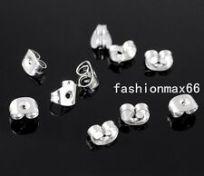 Silver Butterfly 1000pcs Earring Backs Earplug Stainless Steel Earring Findings