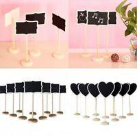 10Pcs Mini Wooden Chalkboard Blackboard Message Table Number Wedding Party Decor