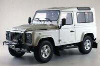 KYOSHO 8901BK 8901FW LAND ROVER DEFENDER 90 model car black & Fuji white 1:18th