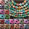 Round Colorful Glass Loose Spacer Craft Beads Wholesale Lot 6mm/8mm/10mm/12mm