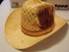 Vintage EDDY BROTHERS BROS. CALIFORNIA Straw Western Cowboy Hat