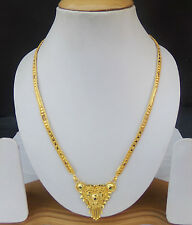 Indian Gold Plated Chain Pendant Traditional Bridal Jewelry Mangalsutra Set m3