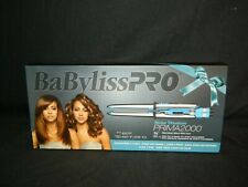 "BRAND NEW BABYLISS PRO NANO TITANIUM PRIMA2000 3/4"" TRAVEL IRON WITH TRAVEL CASE"