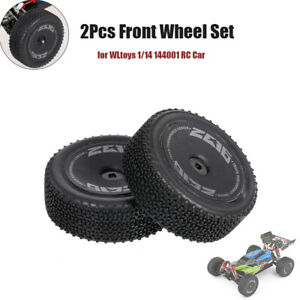 Wltoys 2Pcs Front  for WLtoys 1/14 144001 RC Car Tires Tyre  O9W7