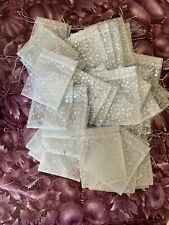 Silver Star Tulle Gift Wedding Favor Bags Silver Pull String Close 60 + Bags New