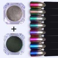 Chameleon Mirror Chrome Gradient Nail Powder Metallic Effect Duo Ombre Rainbow