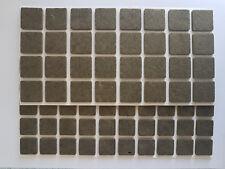 Möbelgleiter/Filzgleiter selbstklebend, Quadratisch, Filz, Braun