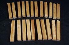 """22 Piece White Birch Pen Blanks 3/4 x 3/4 x 5"""" Lathe Turning Craft Wood Lumber"""