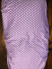 PURPLE WITH WHITE STARS  BRAND NEW HAND MADE COTTON CHANGE TABLE COVER, MATNAPPY