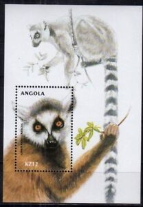 Angola 2000 MNH MS, Ring-Tailed Lemur – Lemur catta, Wild Animals