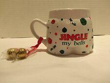 JINGLE MY BELLS UNDERWEAR CHRISTMAS MUG(NEW) COFFEE- HOT CHOCOLATE- RARE