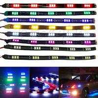 4x 8x  15 LED 12V Waterproof Car Vehicle Motor Grill Flexible Light Strips 30cm