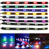 4x 8x  15 LED 12V Waterproof Car Vehicle Motor Grill Flexible Light Strips 30cm