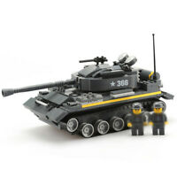360pcs Militär Panzer Tank Modell Bausteine mit Armee Soldat Figuren Spielzeug