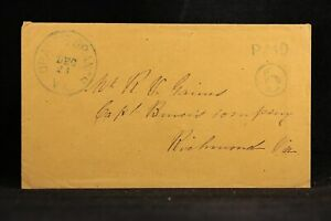Confederate: Va, Drake's Branch 1861 (circa) Stampless Cover Blue PAID Circled 5