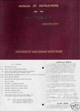 Auster B8 Agricola Rare archive manual 1950's crop duster historic aircraft