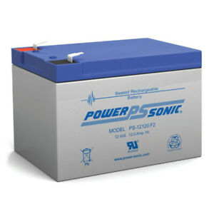 Power-Sonic PS-12120 Battery - 12V 12AH F2 Spade Terminal Sealed AGM
