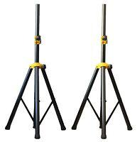 2x Ignite Deluxe Series Heavy Duty Tripod DJ PA Speaker Stands Adjustable - Pair