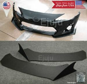 Front Bumper Lip Side Splitters Spoiler Winglet Shark Fin Blade For 13-16 FRS