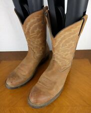 VTG Durango Brown Boots Mens Size 13 D Cowboy Bull Leather Shoe Western Cosplay