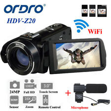 Ordro HDV-Z20 1080P numérique Caméra Vidéo 16× Zoom 24MP Face Détection 2017 A2