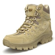 Men's High Top Combat Army Boots Tactical Mesh Desert Military Work Shoes SWAT