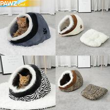 Pet Winter Warm Fleece Igloo Bed Cave House Fur Trim For Dog/Puppy/Cat/Kitten