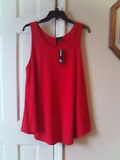 NEW DIRECTIONS LADIES SIZE OX RED TANK TOP PULLOVER BLOUSE SLEEVELESS SHIRT