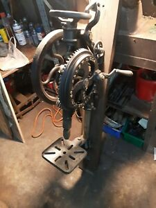 Antique post drill huge drill superb condition fully functional  blacksmithing